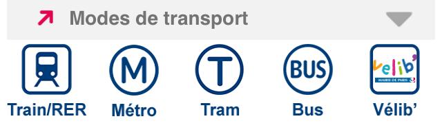 Mode transport Application Transilien