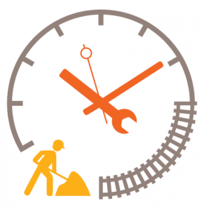 travaux sur les voies ligne p