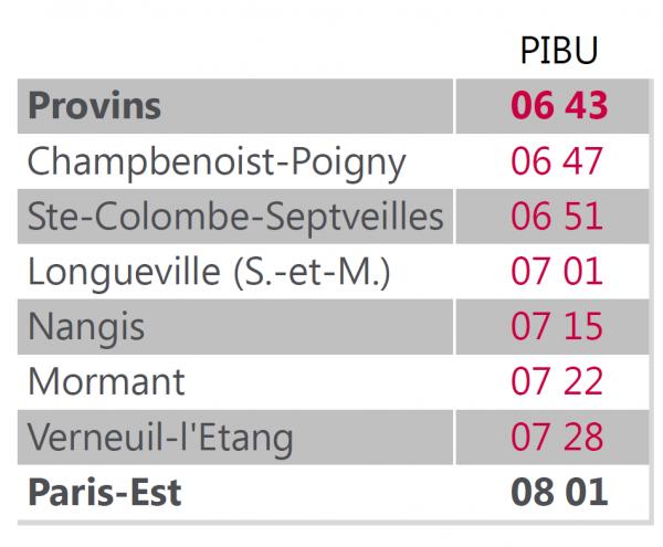 Du 25 janvier au 12 f vrier modification des horaires du train pibu de 06h46 - Horaire cartreize ligne 51 ...