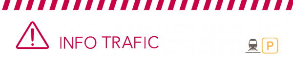 Bandeau Info trafic ligne P