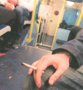 fumeur train
