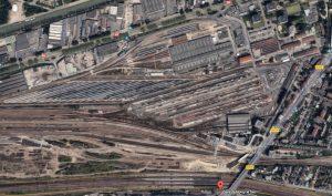 Vue aérienne du Technicentre de Paris-Est