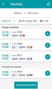 Appli SNCF itinéraires